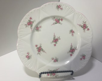 Shelley Bridal Rose Salad Plate, Shelley China, Tea for One, Floral Plates, Made in England, Tea Party