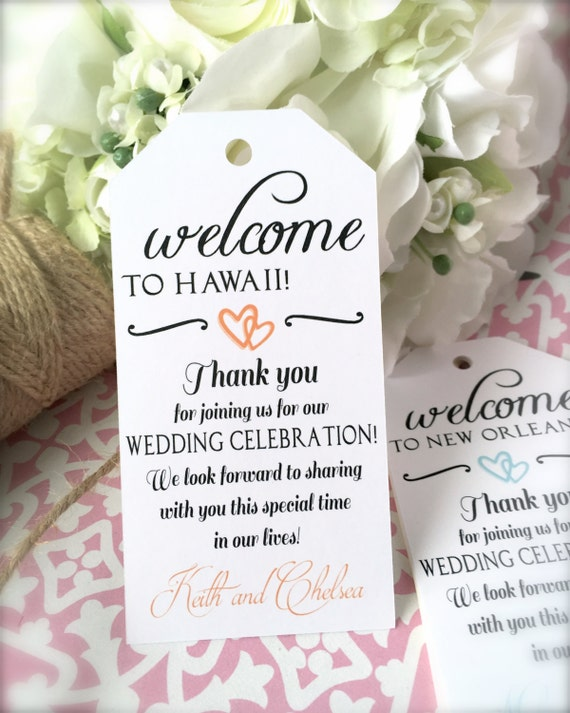 Destination Wedding Gift Tags : Wedding welcome tags, big favor tags, destination wedding tags, hotel ...
