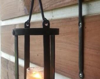 hanging wall lantern blacksmith made hand forged