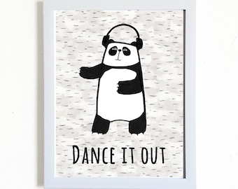 Dance it out Panda Print