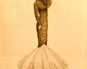 Original Alexander Mcqueen Illustration