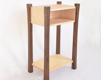 Modern Wood Bedside Table Curved legs