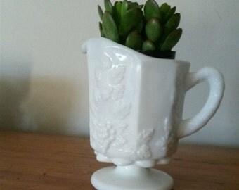 Vineyard Milk Glass Creamer
