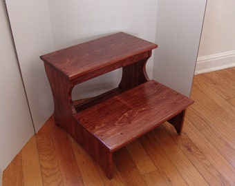 16.5  tall Handcrafted Jumbo Step Stool Pet Steps Solid Wood Wooden Bed Bedroom & View Wooden Step Stools by WindyWoodsWoodcraft on Etsy islam-shia.org