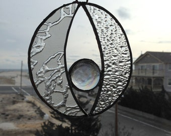 Abstract Clear Circle Suncatcher