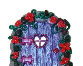 Purple Fairy Door, Magical fairy garden door, Elf door, Magic wooden door