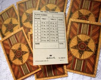 Bridge Score Cards (set of 8), Bridge Tally Cards, vintage Bridge game,