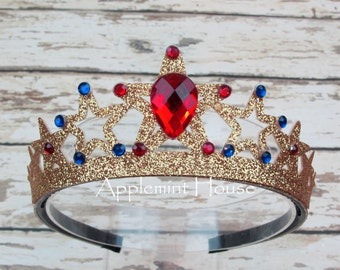 Wonder woman Headband,Wonder Woman  Crown,Super Hero Crown,Wonder Woman Costume,Woman Gold Crown,Super Hero,Super Hero Birthday Crown