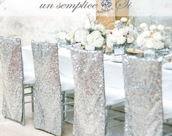 5 dollars each !!!! PROMOTIONAL HOLIDAY  PRICE -Sequin Chair Cover,  Chiavari Chair Covers, Sequin Chair Decor ,