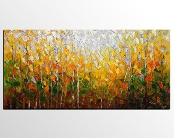 Oil Painting, Forest Painting, Canvas Art, Abstract Wall Art, Large Art, Oil Painting, Large Wall Art, Original Painting, Abstract Landscape