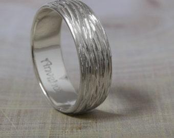 18k wedding ring 18K Gold Men's Wedding Band  Mens wedding ring 7mm Wide Men's Ring Designer wedding ring  Handmade