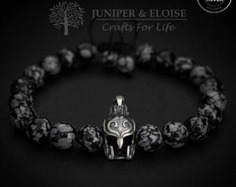 Elven Helmet Bracelet, Mens Bracelet ,Elven Bracelet, Elf Jewelry, Helmet charm , Mens Jewelry, Elven Warrior Helmet, Christmas Gift