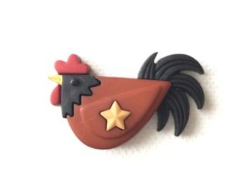 Chicken Pin, Chicken Tie Tack, Hen Pin, Hen Tie Tack, Americana, Jewelry, Brooch