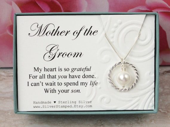 Wedding Gift For Mother In Law: Gift For Mother Of The Groom Gift From Bride Sterling Silver