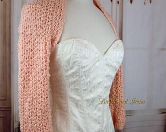Blush Crochet Shrug Blush Shrug Long Sleeve Winter Wedding Spring Wedding Fall Wedding Bridal Jacket Bolero Bridesmaids Shrug