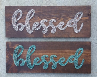 Made to Order String Art Blessed Sign