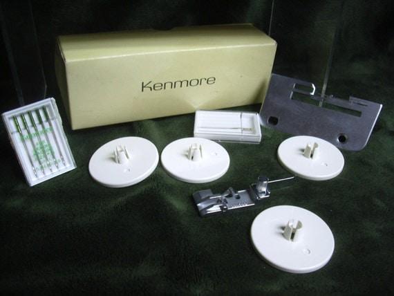 Sears Kenmore Sewing Machine Plate & Needles Singer Serger