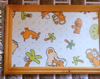 wall decor, kids room decor animal print in frame