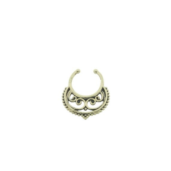 Faux septum ring, Fake septum ring, Faux nose ring, non pierced septum
