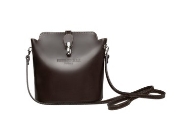 Leather Bag   Cross Body Bag by FERDINAND SABAC   Brown Leather Handbag   Evening Bag   Italy Leather Handbag   Leather Bag Cross Body Purse