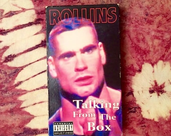 Henry Rollins Talking from the Box VHS Tape Video Tape 90's  Punk 1992