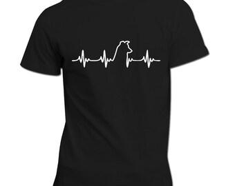 Border Collie Heartbeat   Border Collie Tee   Border Collie Life Line T-Shirt