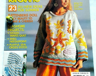 June 1991 McCall's Needlework and Crafts Magazine Beautiful Beach Designs for Home and to Wear!