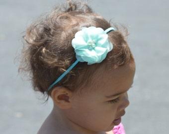 Baby girl headband Tiffany