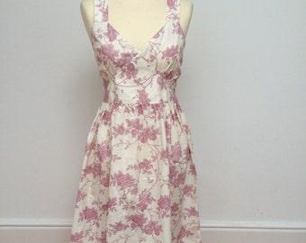 Floral dress, Vintage 1990s dress, Summer dress, Cotton dress