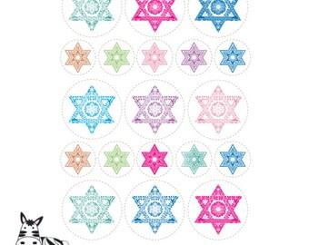 Holidays Art Round Labels Fun Jewish Decorating Ideas By