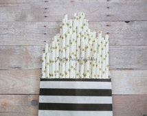 Gold Star Straws, Twinkle Twinkle Little Star Baby Shower, Wish Upon A Star First Birthday, Moon and Star Galaxy Party, New Years Party Idea