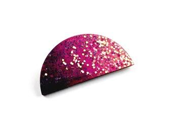Purple Ombré Brooch // Scallop Brooch, Wood Brooch, Lasercut Brooch, Wooden Brooch, Ombre Accessories, Purple Brooch, Purple Jewelry