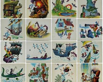 Kornei Chukovsky - Doctor Powderpill - Illustrator Sudakov - Set of 16 Vintage Soviet Postcards, 1981. Doctor Aibolit / Doctor Dolittle