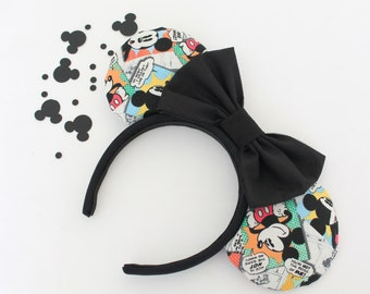 Mickey Mouse Comic Mouse Ears, Mickey Mouse Comic Minnie Ears, Mouse Ears, Minnie Mouse Ears, Comic Book Mickey Mouse