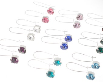 Swarovski birthstone earrings.