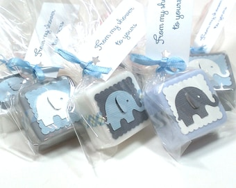 Baby shower favors boy, elephant baby shower favors