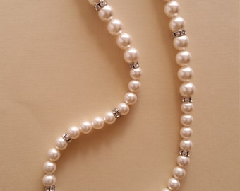 Swarovski Crystal White Pearl Necklace