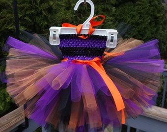 Purple Orange Tutu Dress, Fall Tutu Dress, Baby Halloween Dress, Halloween Costume, Black Orange Tutu, Fall Dress, Black Purple Tutu Dress