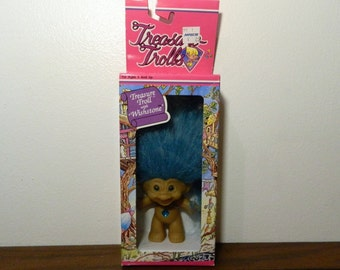 Vintage Treasure Troll With Wishstone New In Box