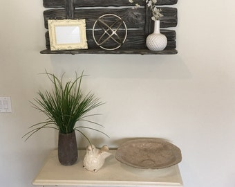 Rustic Barnwood Wall Shelf.  Different Sizes Available.