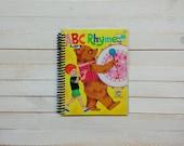 Little Golden Book/ Recycled Journal/ Spiral journal/ blank notebook/  ABC Rhymes