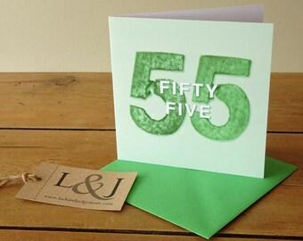 Birthday Card - 55th Birthday - 55th Birthday Gift - Fifty Five - 55 Birthday - 1962 Birthday - 55th - Birthday - Fifty Fifth - Birthdays