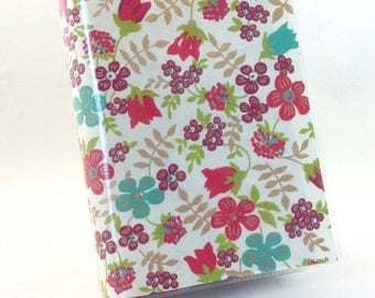 Paperback Book Cover - Reusable, Protective and Adjustable - Large Trade Size - Stylish Book Cover with Flower and Berry Garden Design