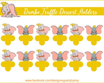 DUMBO CANDY HOLDERS, Dumbo Chocolate Holders, Dumbo Party Supply, Dumbo, Forminhas para Docinhos, Dumbo Party Printable,Dumbo Die Cuts,Cups.