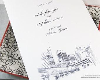 Atlanta Skyline Wedding Programs (set of 25 cards)