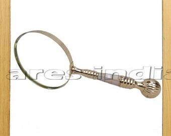 New Antique Vintage Style Brass & Mother Of Pearl Magnifying Glass Magnifier Gift