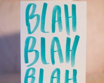 Blah Blah Blah Card Set