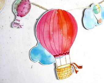 Party Garland HOT-AIR BALLOONS nursery