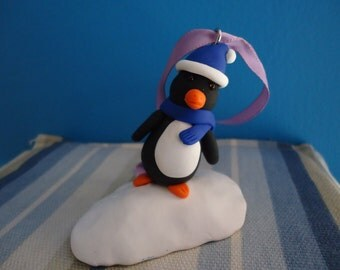 Penguin on a snowdrift ornament