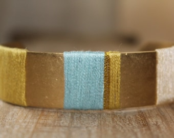 Cuff, embroidery thread bracelet